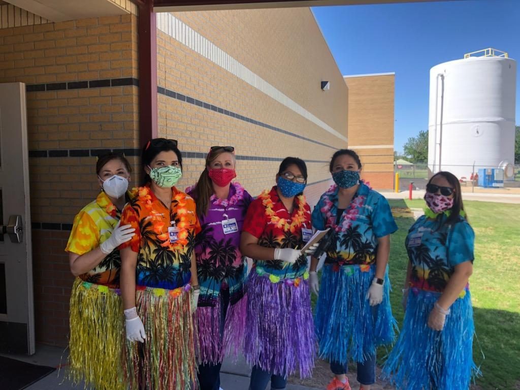 Hawaiian Day at Kermit ISD!